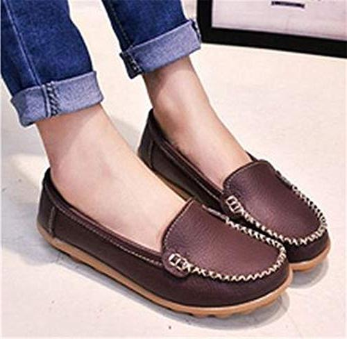 Women's Leather Driving Boat Shoes