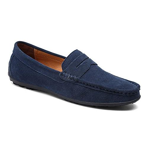 casual suede slip driving moccasins