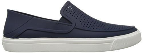 crocs Men's Roka Slip-On Navy/White, M US