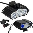 12000Lm 3 x CREE XM-L T6 LED Bicycle Lamp Bike Headlight Cyc
