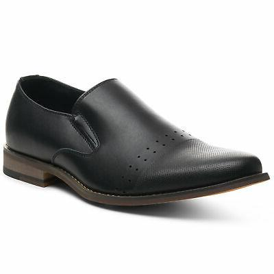 double diamond mens leather slip on loafers