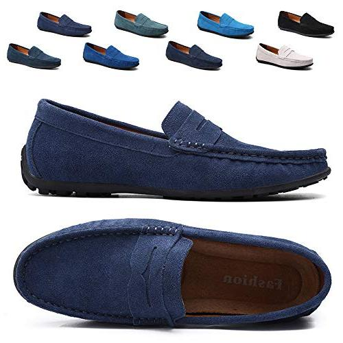 driving penny dress loafers suede