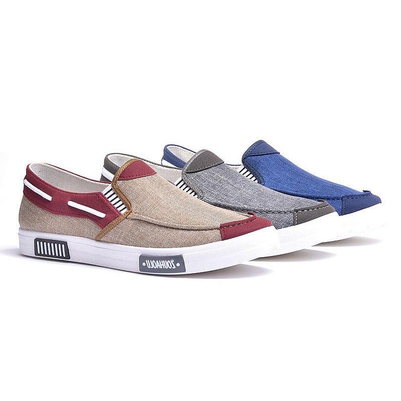 Flats Shoes Flats <font><b>Mens</b></font> Canvas <font><b>Loafers</b></font> Solid Fringe Casual Shoes Male <font><b>Loafer</b></font>