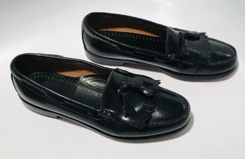 GH Co Black Leather Kiltie Slip On SZ 10.5