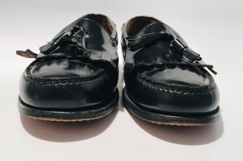 GH Bass Co Black Leather Slip SZ
