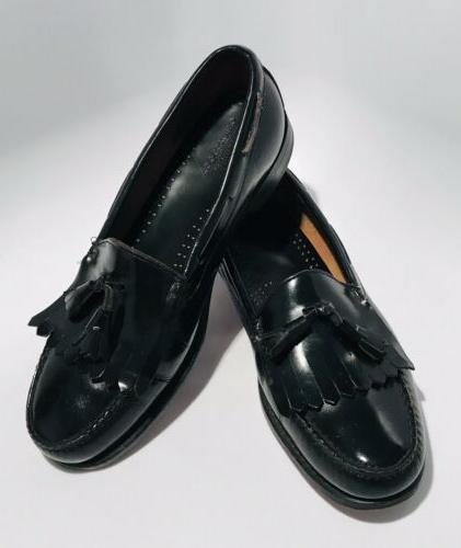 gh bass co weejuns black leather kiltie
