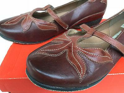 Hush Puppies Harmony Recycled Leather Mary Jane Leaf EW