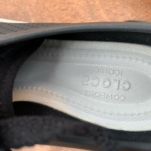 Crocs Comfort Loafers Men's Size Black Perforated