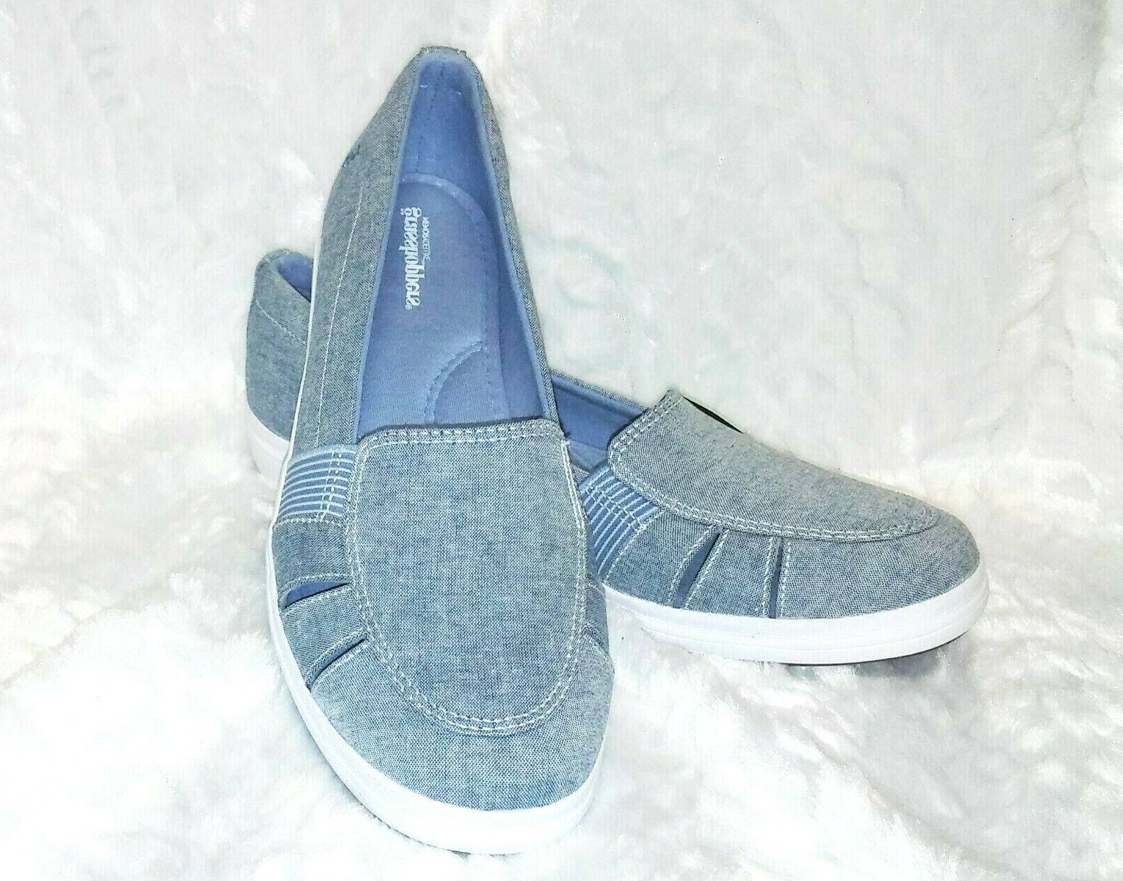 Grasshoppers Keds Slip-On Chambray Loafers Shoes NIB
