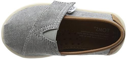 TOMS Kids Classics Grey Chambray/Pu Loafer