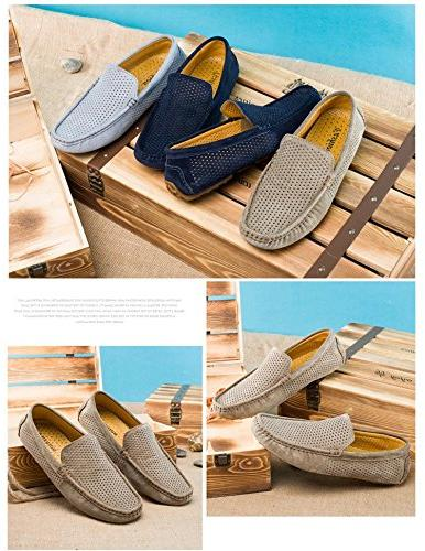 UNN Loafers Casual Boat Leather Slip Driving Shoes Moccasins Breathable Flats
