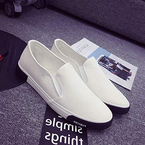 SmarketL High Mens Shoes Outdoor Men Walking Shoes Men Shoes Shoes,7MUS,White7
