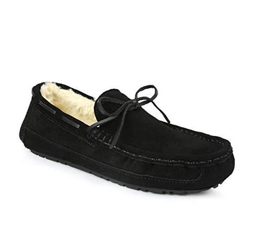 men s au loafer 02 black faux