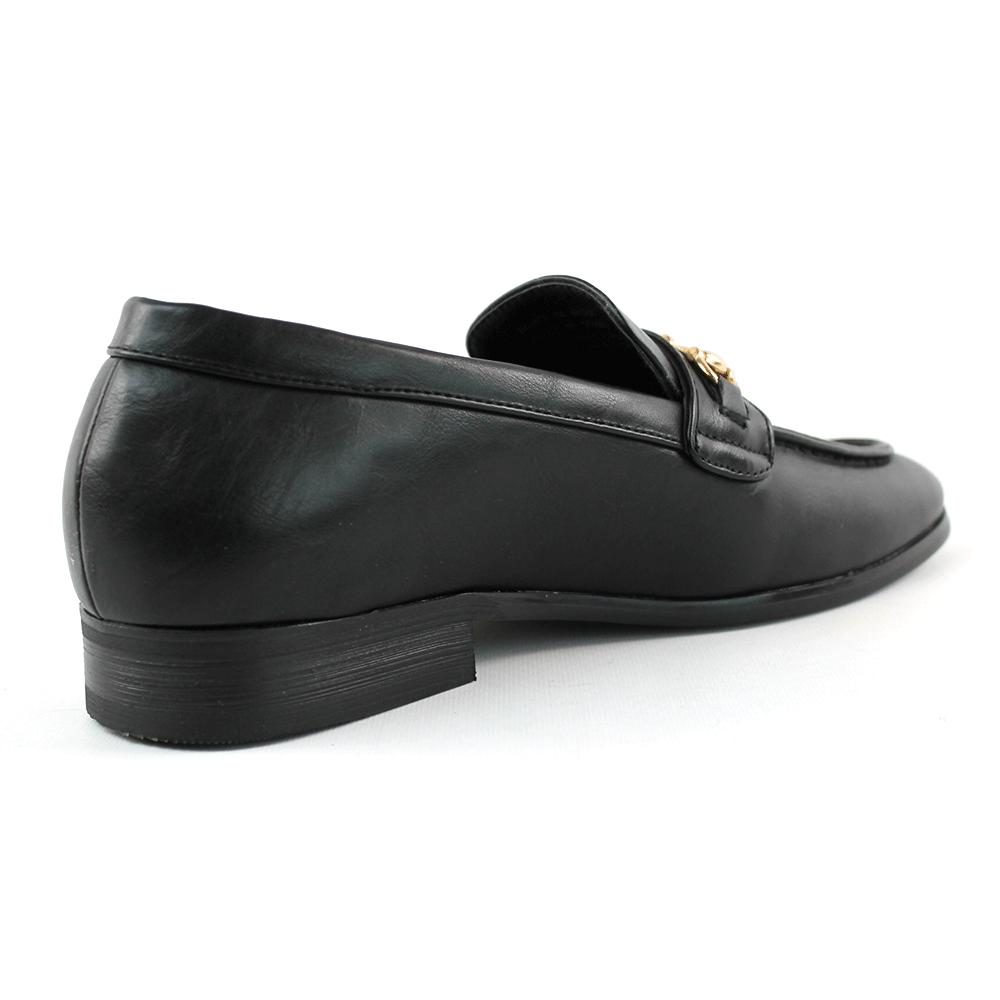 Men's Leather Shoes Loafers With Buckle Formal AZAR