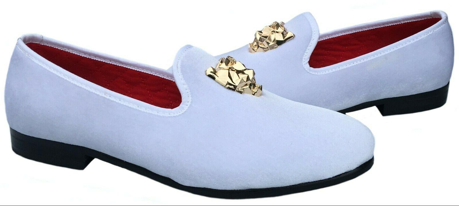 Men's Slip-on Dress with Gold Slippers