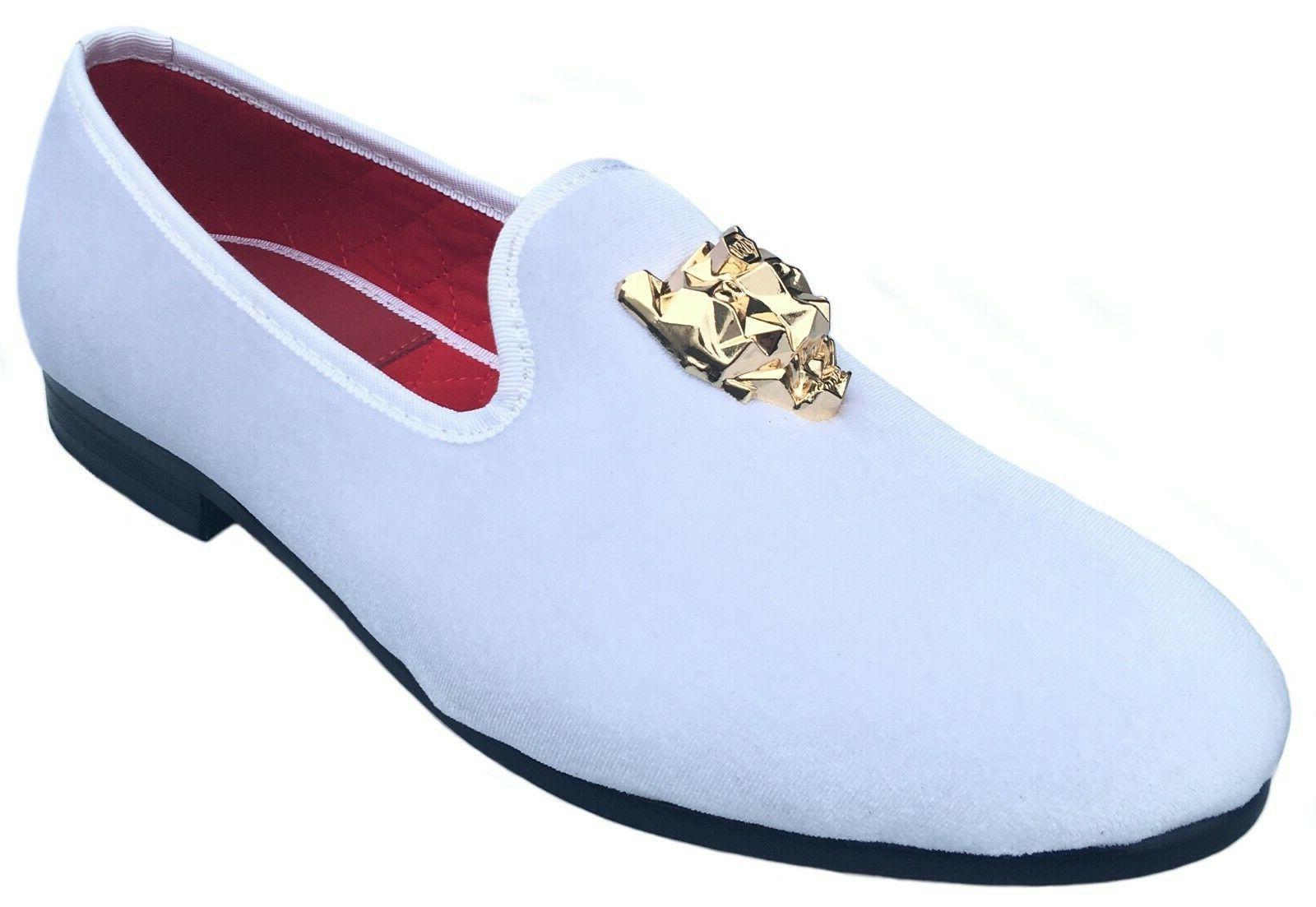 Men's Black Velvet Slip-on Shoes with