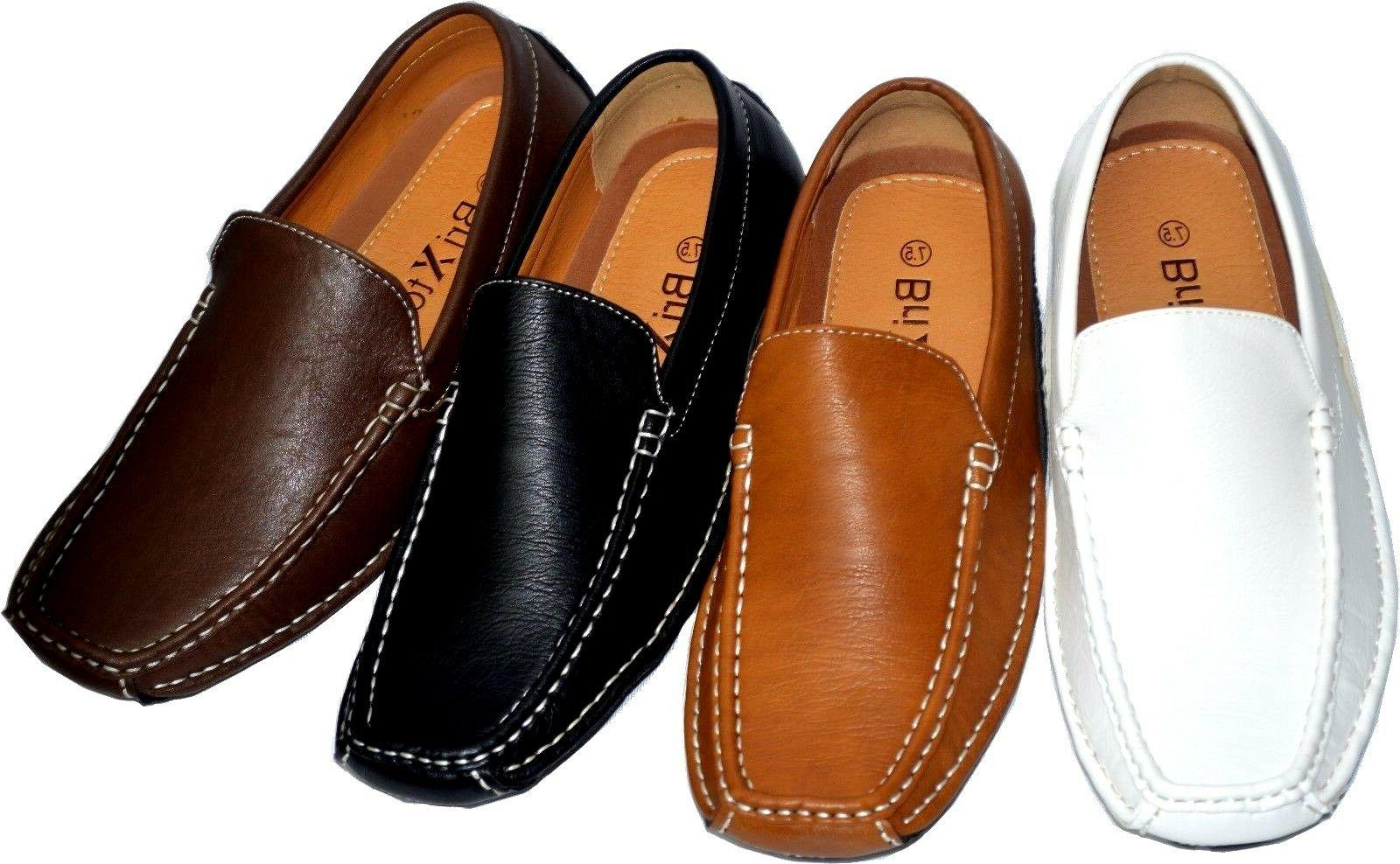 men s casual leather moccasins loafer slip