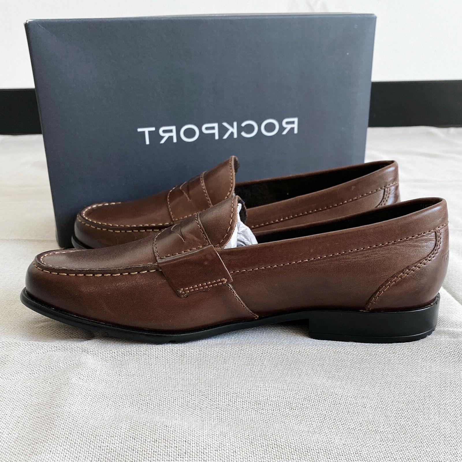 Rockport Men's Classic Loafer Penny Brown with defects