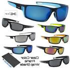 Men's Xloop Clear Color Frame Sports Wrap Small Face Biking