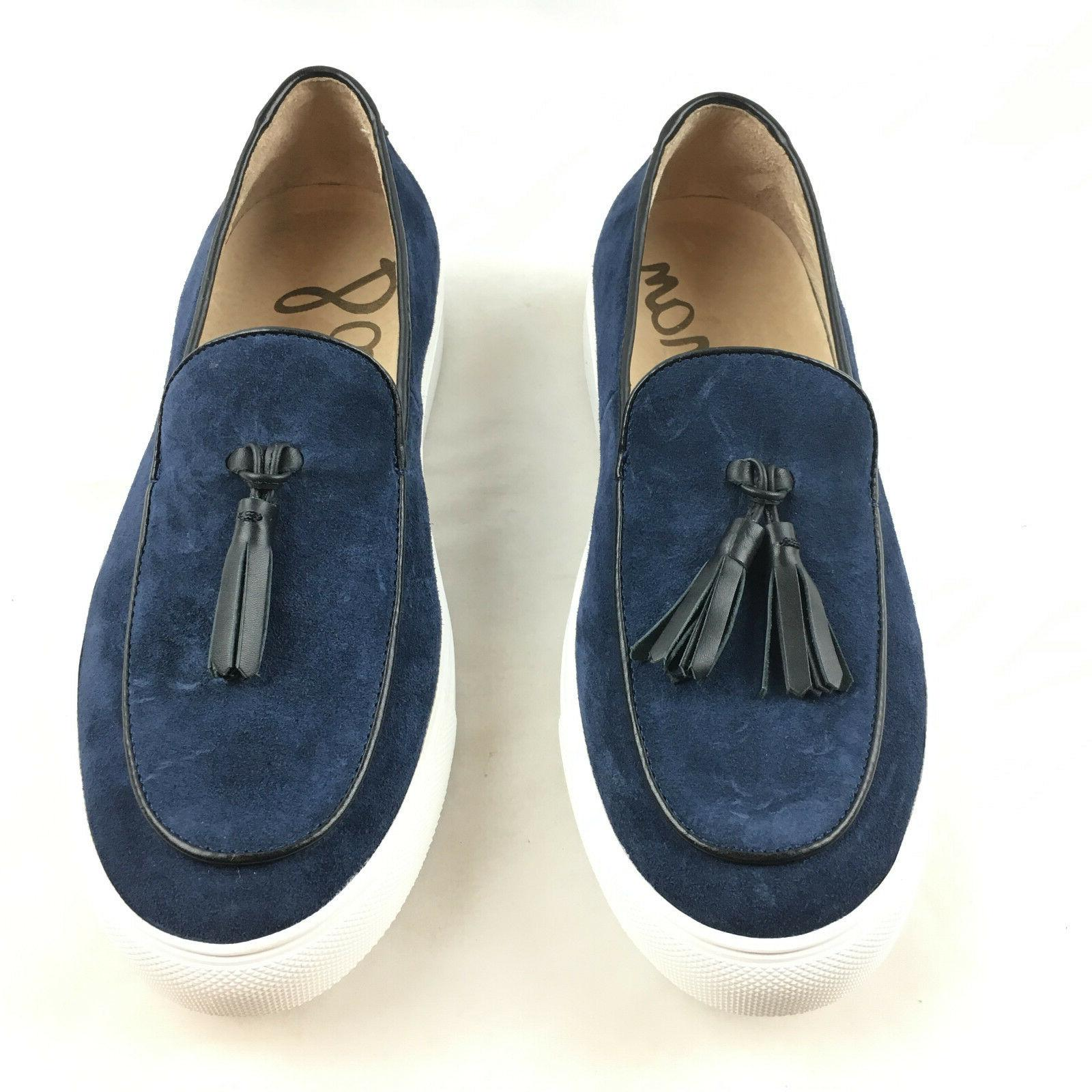 Sam Edelman Men's Curtis Navy Blue Suede Slip On Tassel Casu