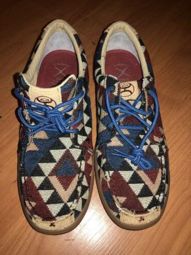 Twisted X Boots Men's  Driving Moc Loafer Navajo Aztec Nativ