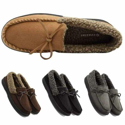 Men's Warm Thicken Driving Loafers Fur Shoes
