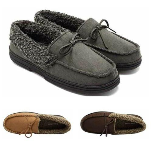 Men's Warm Driving Fur Lined Penny Shoes