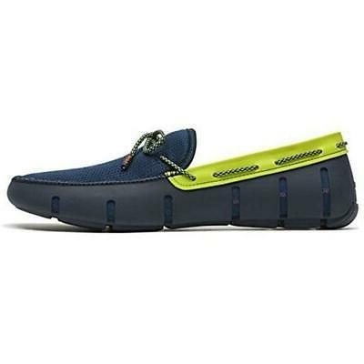 Driving Shoes Navy/Green Sparkle US