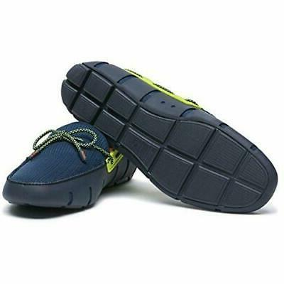 Swims Men's Lace Driving Shoes Navy/Green Sparkle