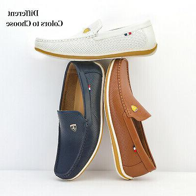 men s leather casual shoes driving loafers