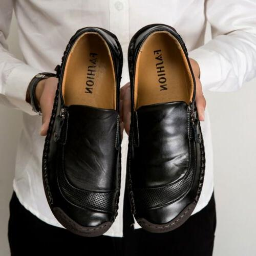 Men's Leather Casual Soft Loafers dress Shoes Non-Slip Sole Noble