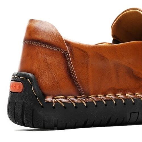 Men's Leather Casual Loafers dress Shoes Non-Slip Sole