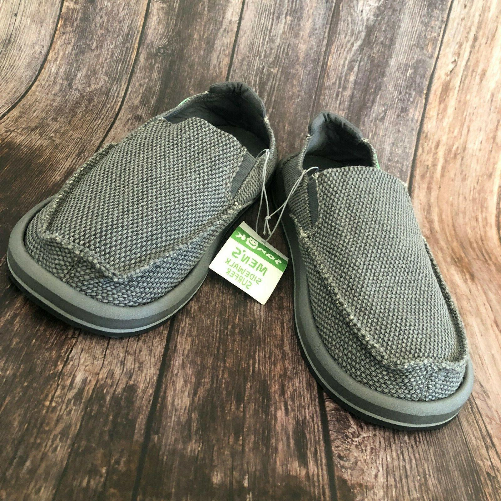 Sanuk Men's Loafers Surfer - Grey - Select Size