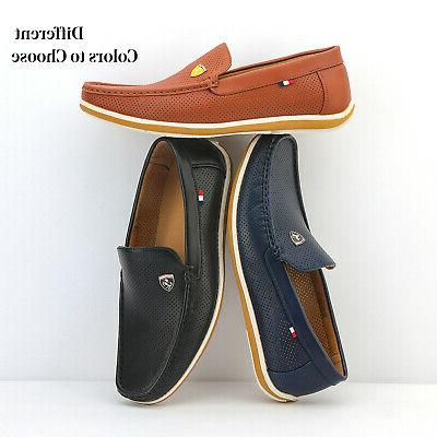 Bruno Leather Slip On Driving