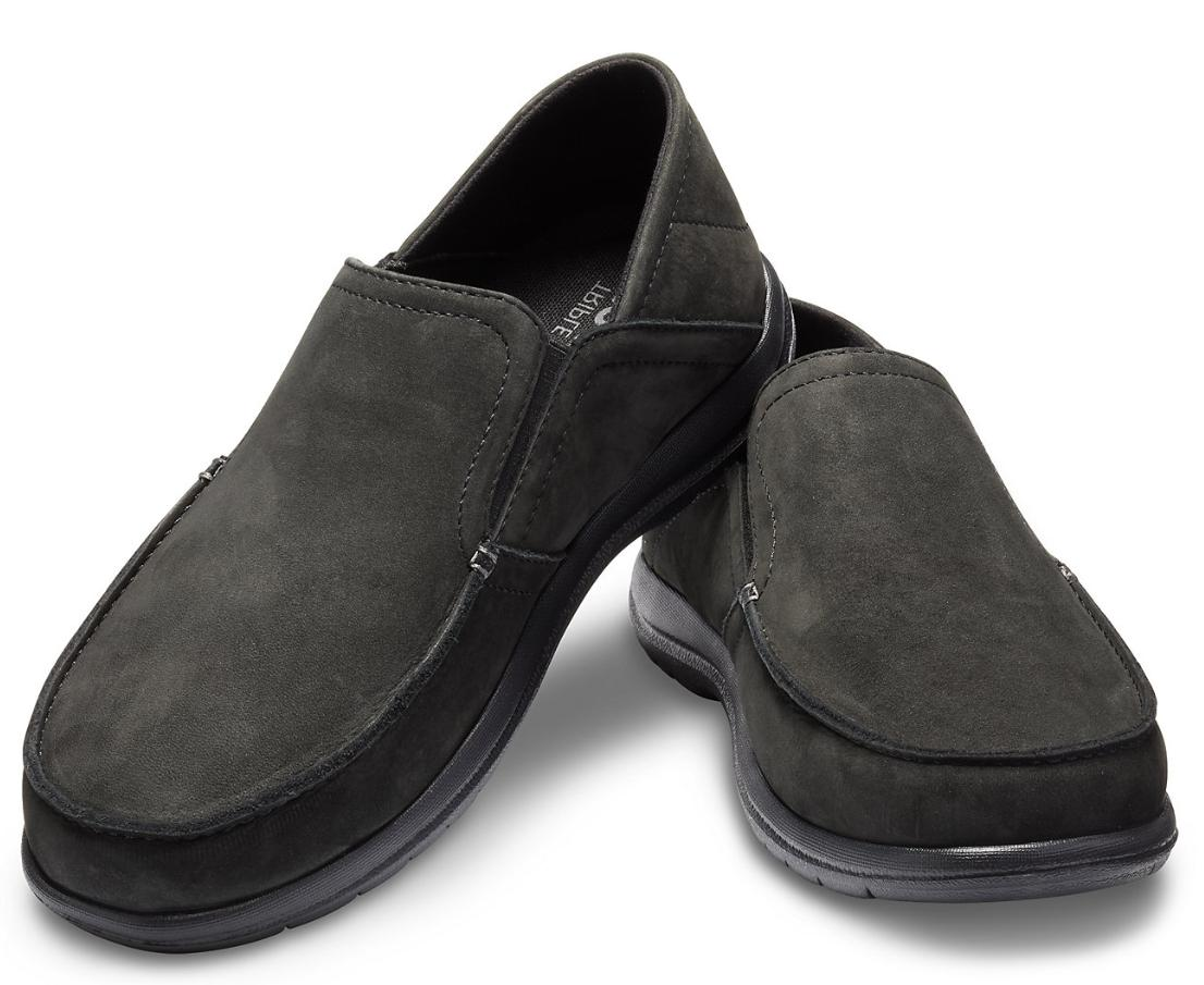 CrocsMen's Cruz Convertible Leather Slip-On