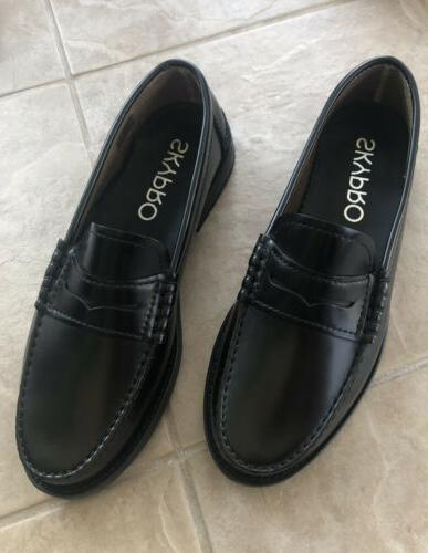 mens 1922 black cabral penny loafers sz
