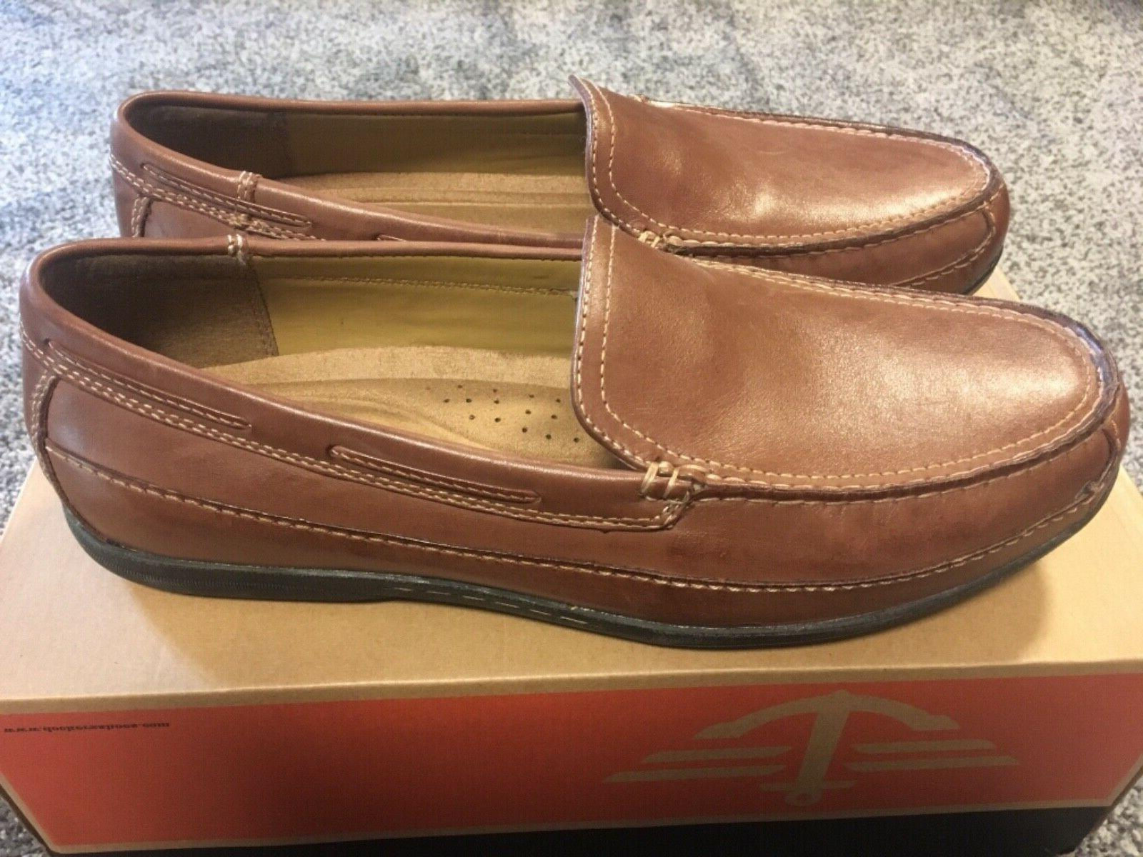 mens amalfi brown loafers shoes size 11