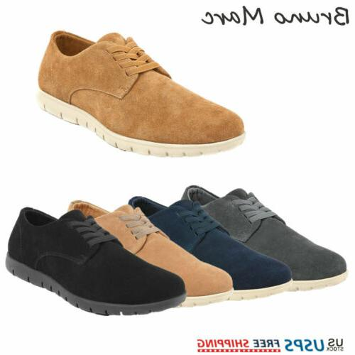 mens casual shoes suede leather oxford lace