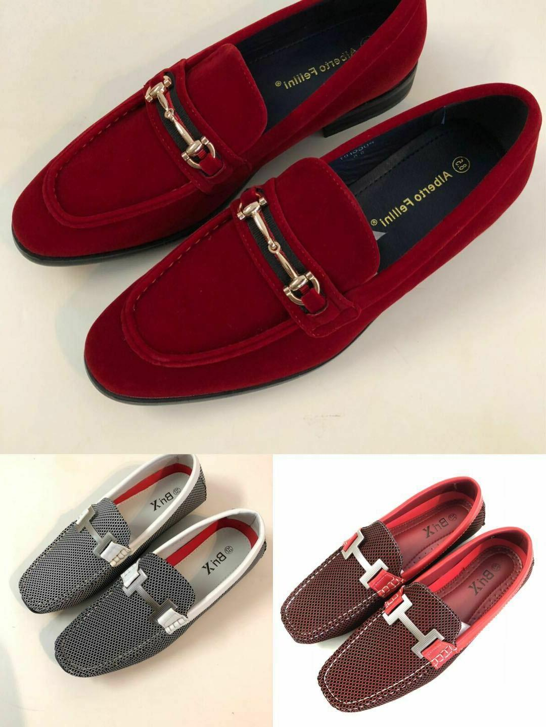 Mens Driving Moccasins Leather Loafers Slip