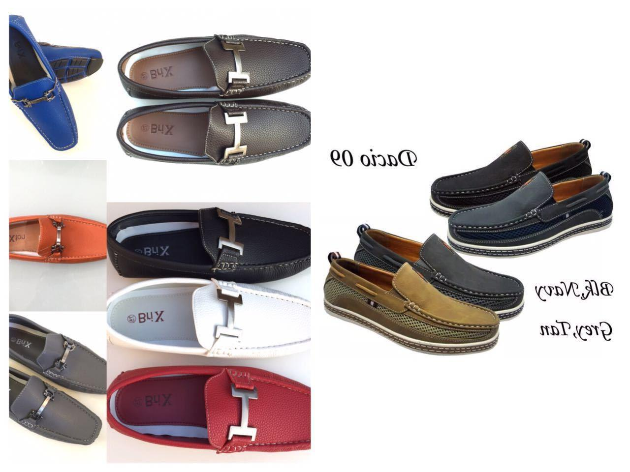 Mens Driving Moccasins Leather Loafers Slip Size;