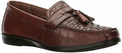 mens hillsboro leather dress casual tassel loafer