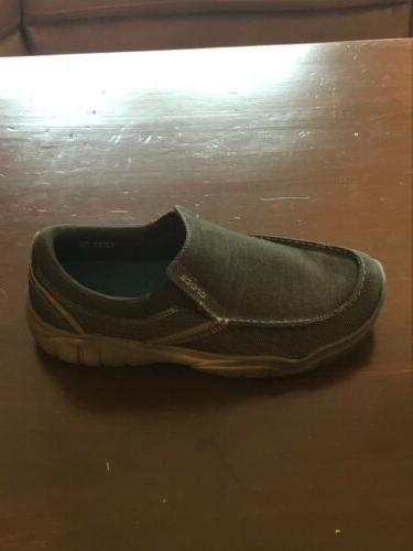 Crocs Mens Loafers Size 9 Gray Worn.