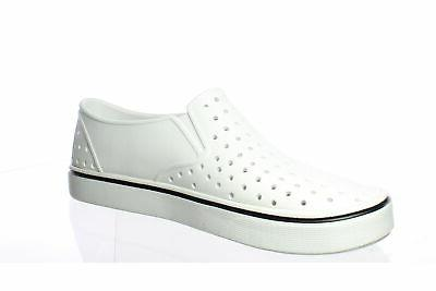 Native Mens Miles White Loafers 8