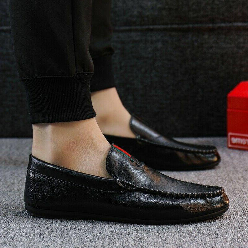 Mens Shoes Driving Leather