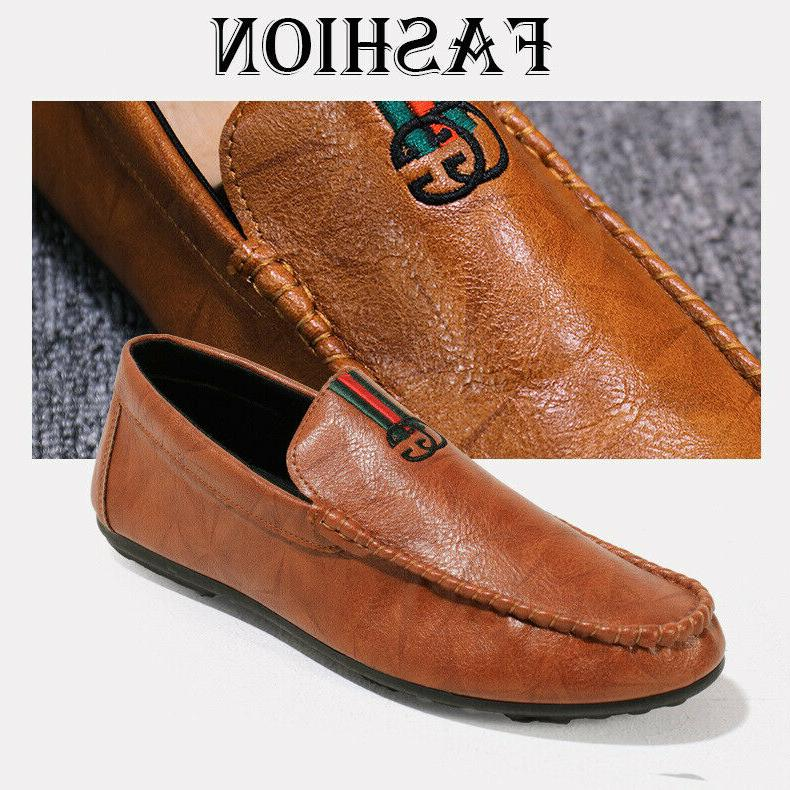 Mens Driving Personality Casual Leather Loafers