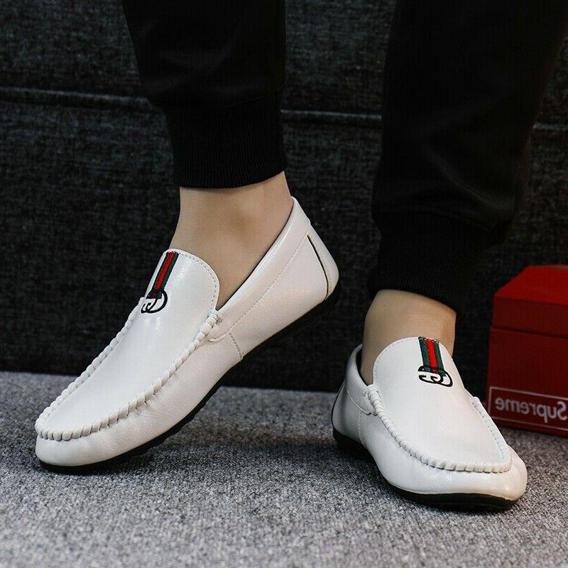 Mens Peas Driving Shoes Personality Leather Shoes Loafers 10