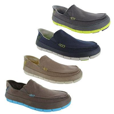 mens stretch sole slip on loafer shoes