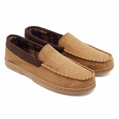 Mens Slip Moccasin Shoes No Slippers