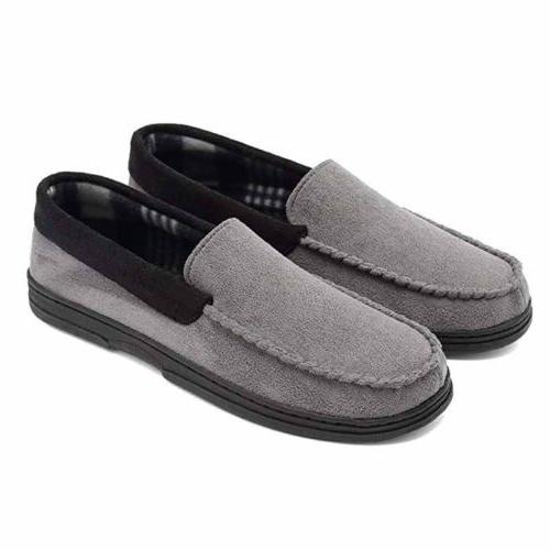 Mens Suede Driving Loafers Shoes No slip Slippers