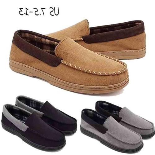 mens suede driving loafers slip on moccasin